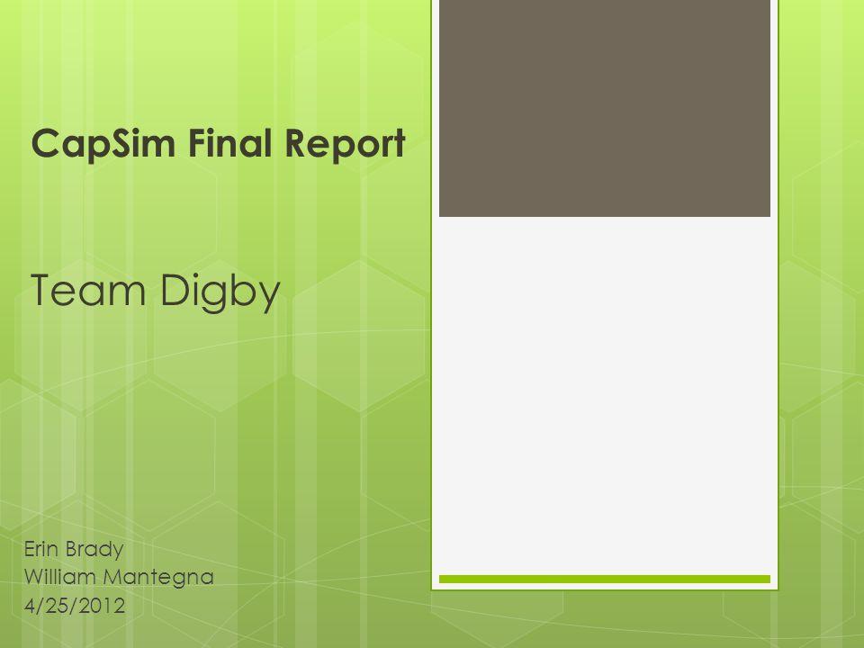 CapSim Final Report Team Digby