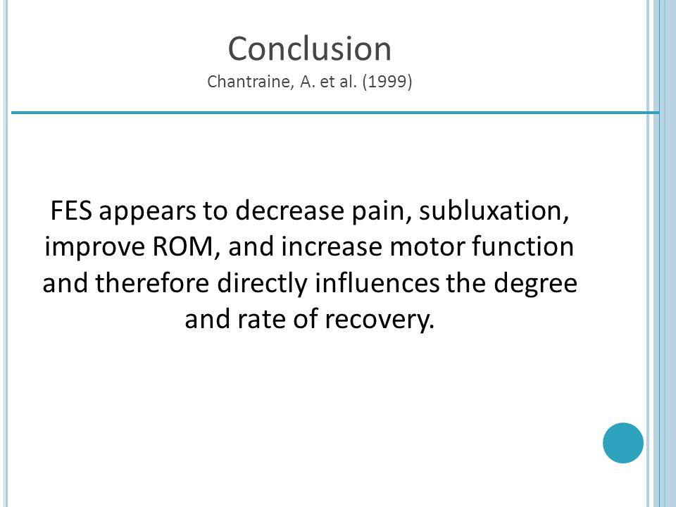 Conclusion Chantraine, A. et al. (1999)