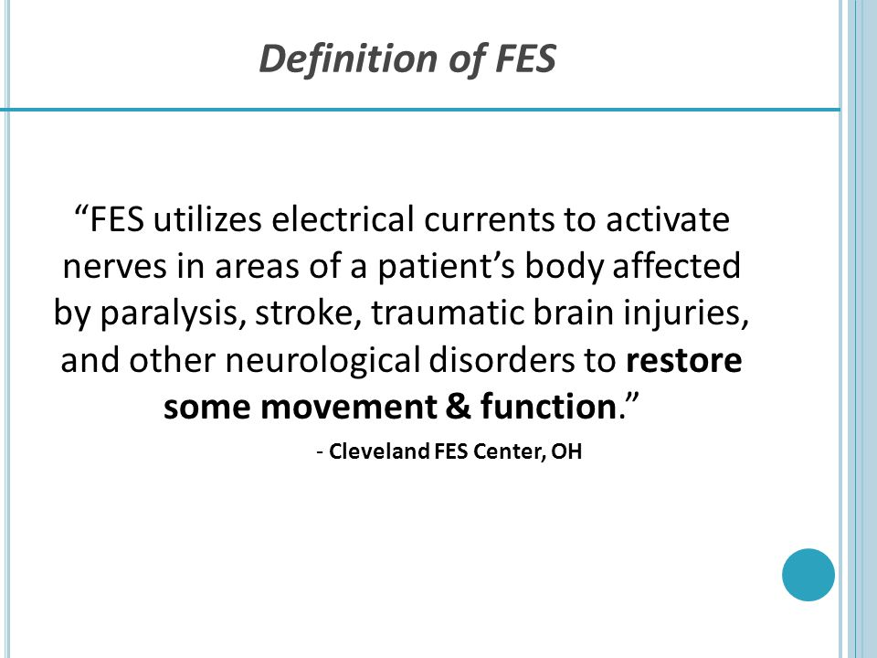 Definition of FES