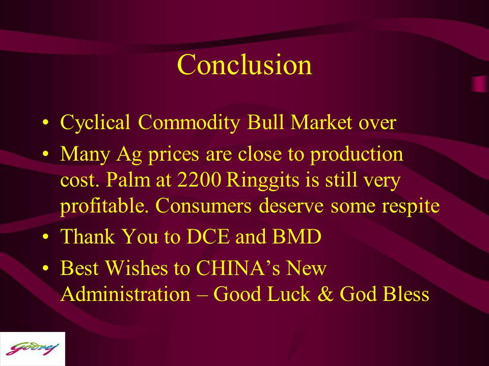 Conclusion Cyclical Commodity Bull Market over