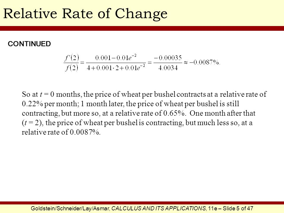 Relative Rate of Change