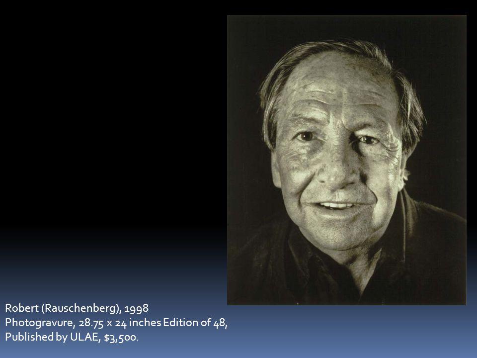 Robert (Rauschenberg), 1998 Photogravure, 28