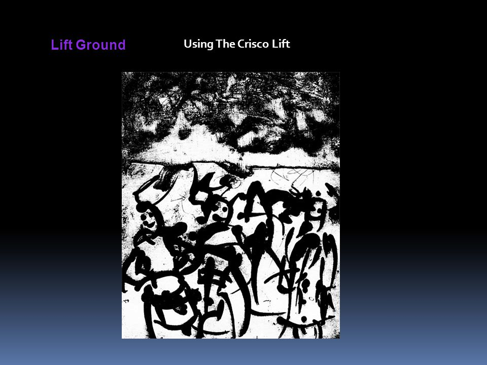 Lift Ground Using The Crisco Lift