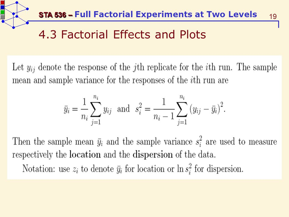 4.3 Factorial Effects and Plots