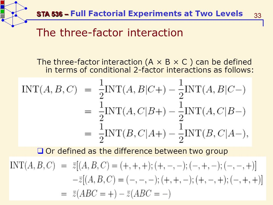 The three-factor interaction
