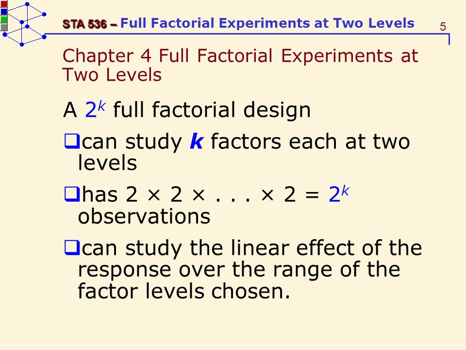 Chapter 4 Full Factorial Experiments at Two Levels