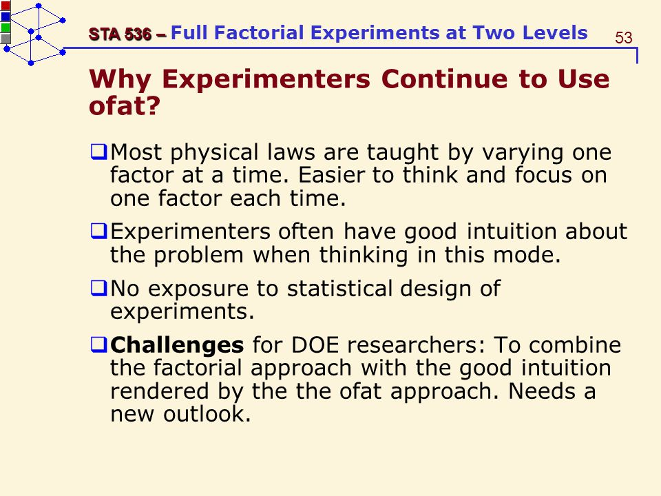Why Experimenters Continue to Use ofat
