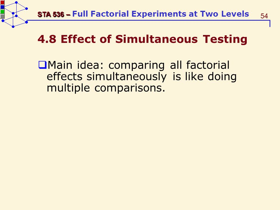4.8 Effect of Simultaneous Testing