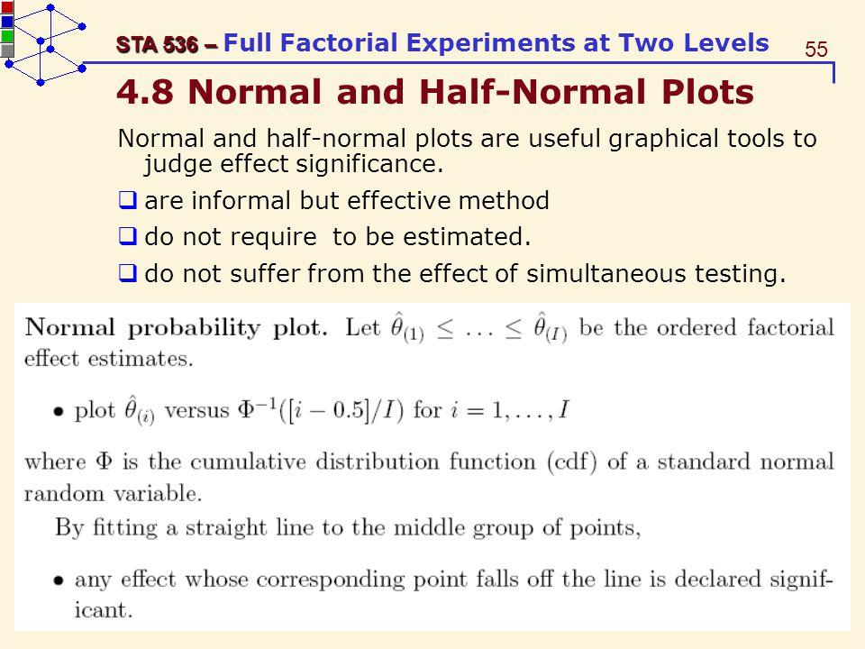 4.8 Normal and Half-Normal Plots