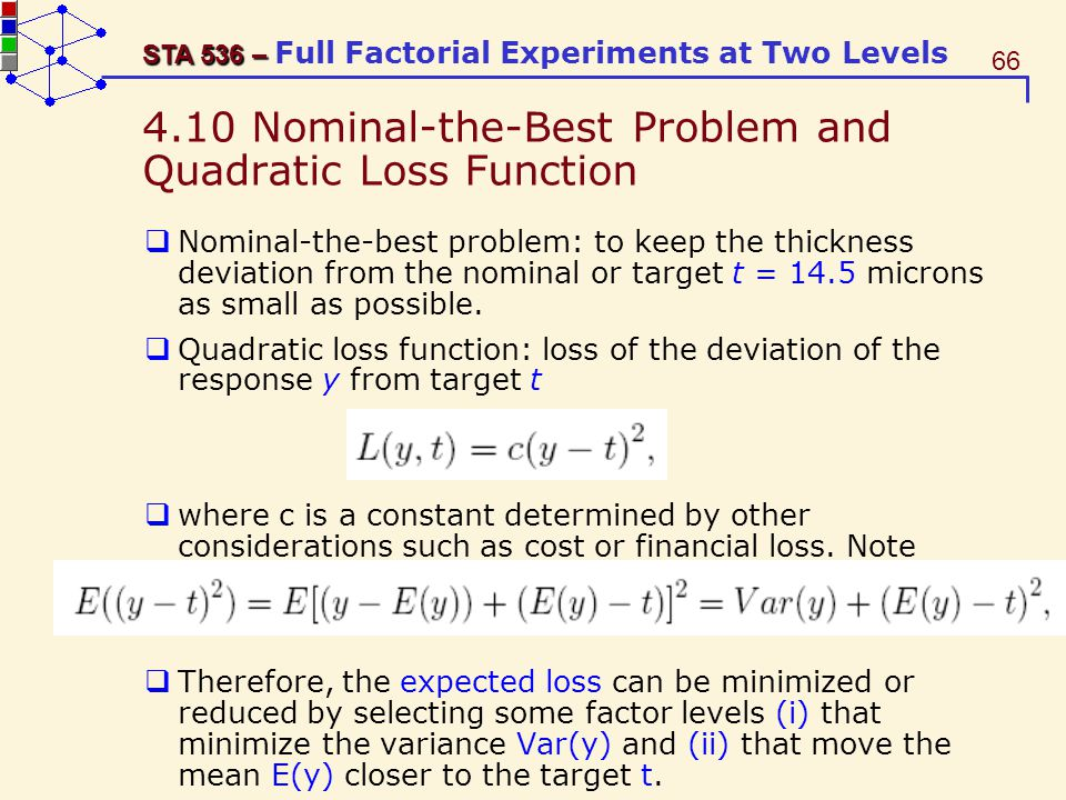 4.10 Nominal-the-Best Problem and Quadratic Loss Function