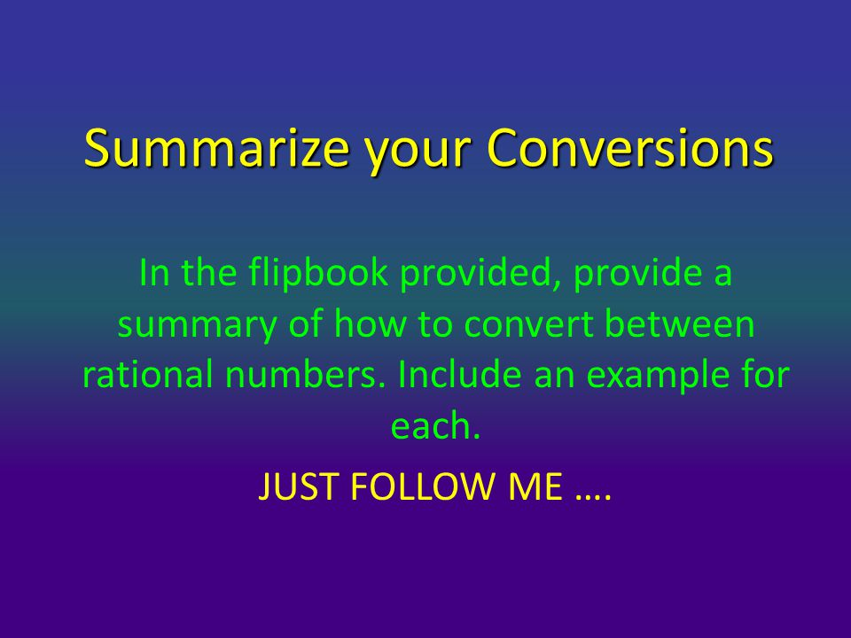 Summarize your Conversions