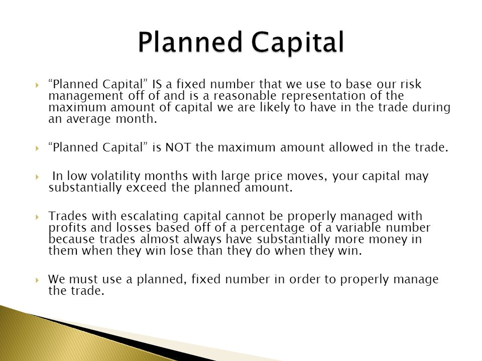 Planned Capital