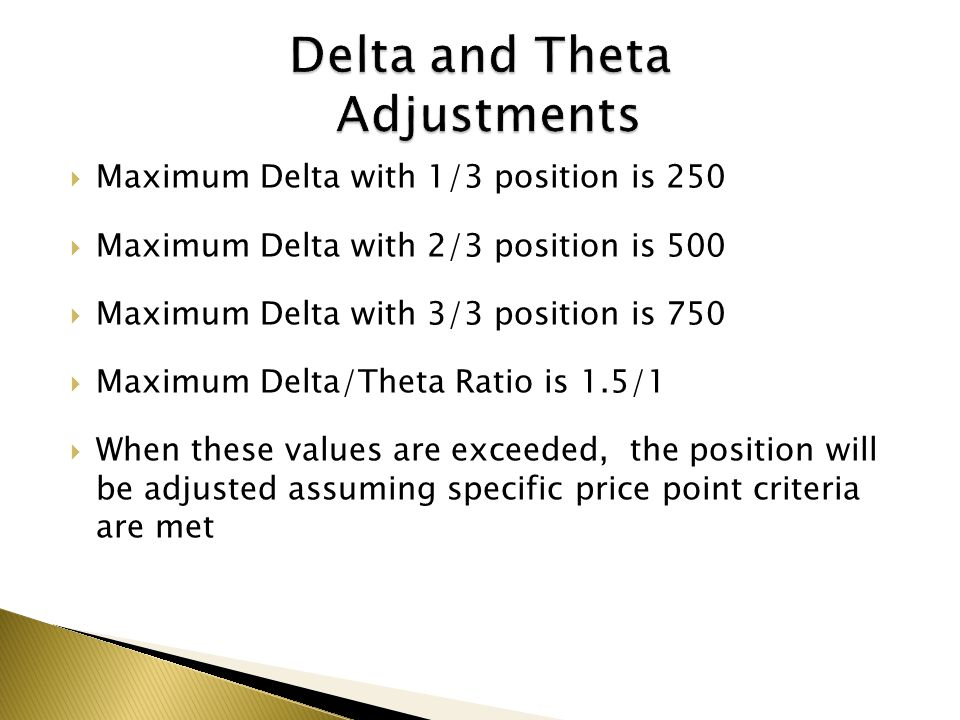 Delta and Theta Adjustments