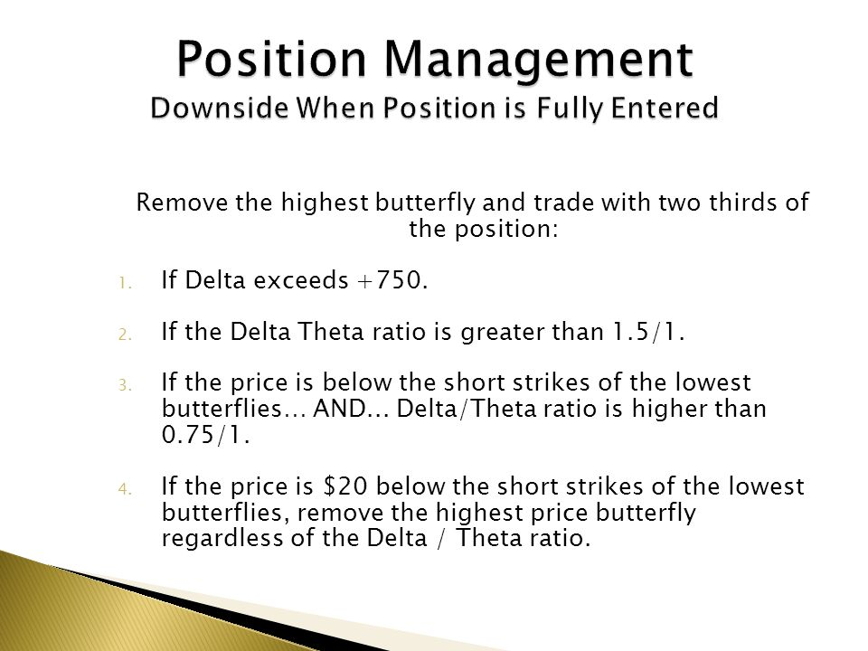 Position Management Downside When Position is Fully Entered