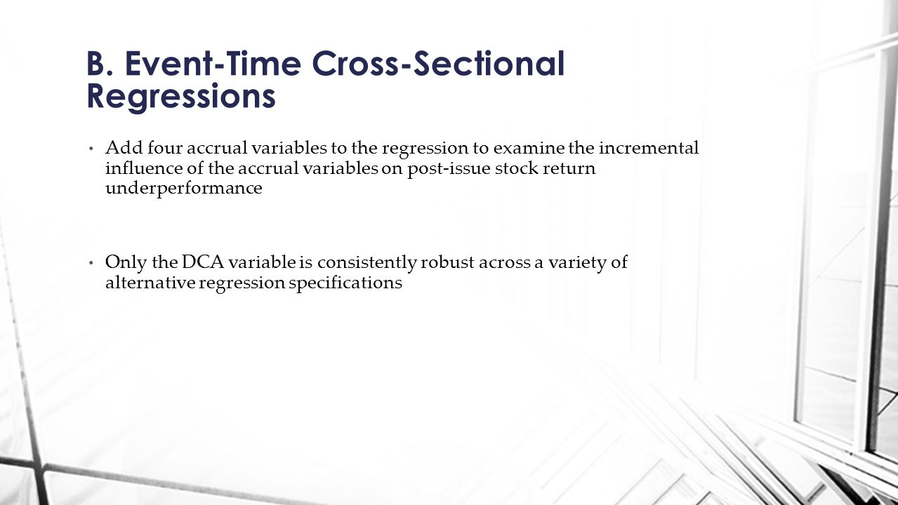 B. Event-Time Cross-Sectional Regressions