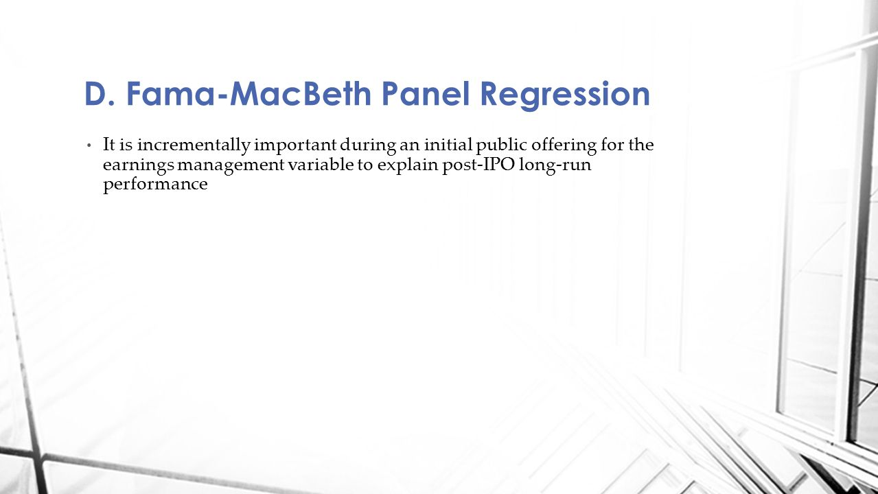 D. Fama-MacBeth Panel Regression