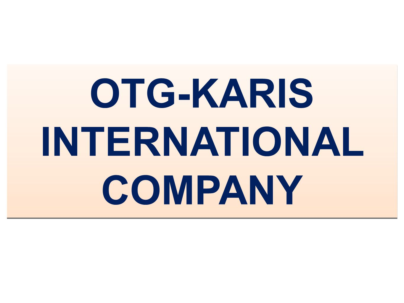 OTG-KARIS INTERNATIONAL COMPANY