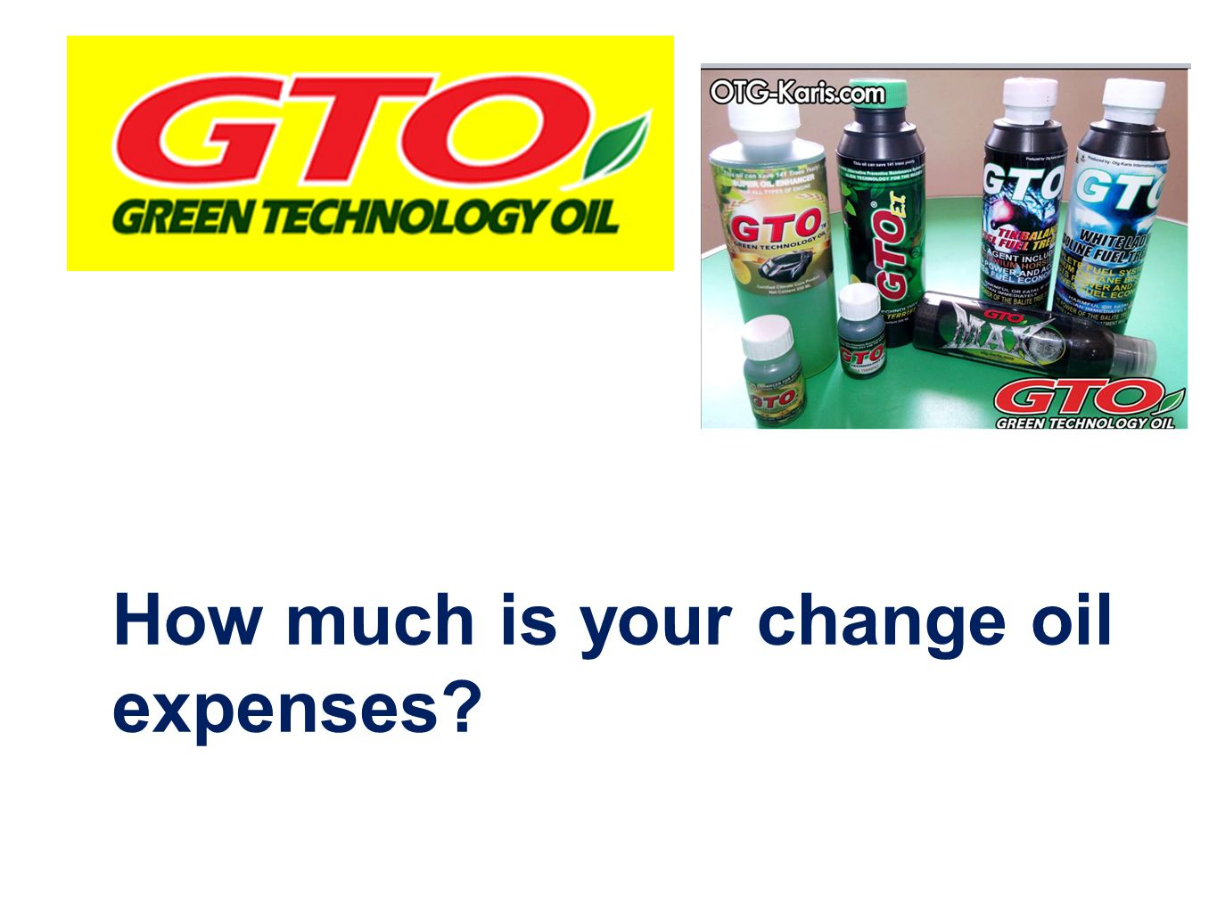 How much is your change oil expenses