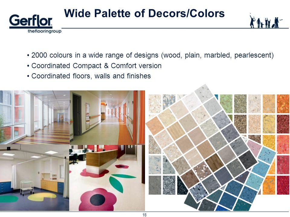 Wide Palette of Decors/Colors