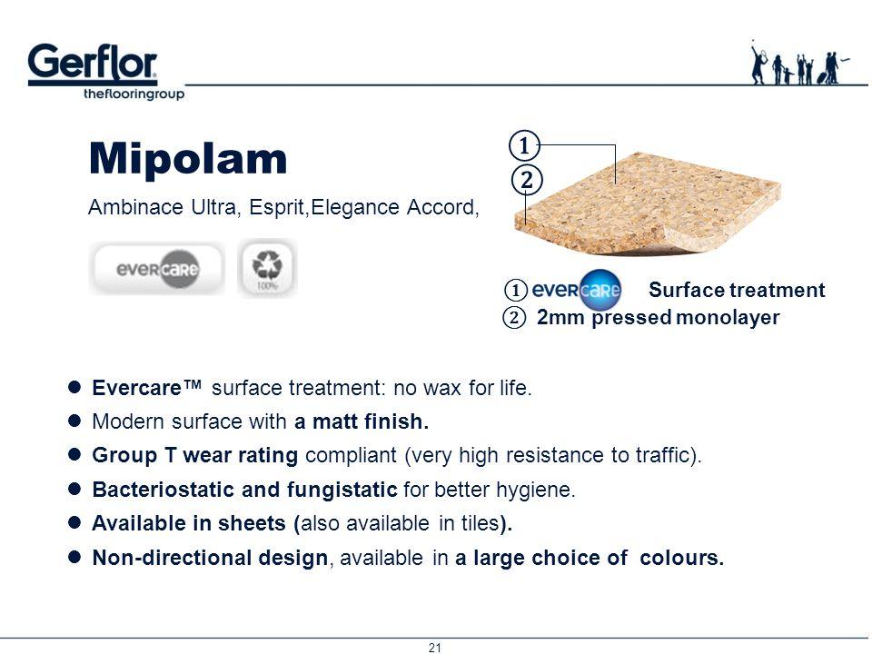 Mipolam ① ② Ambinace Ultra, Esprit,Elegance Accord,