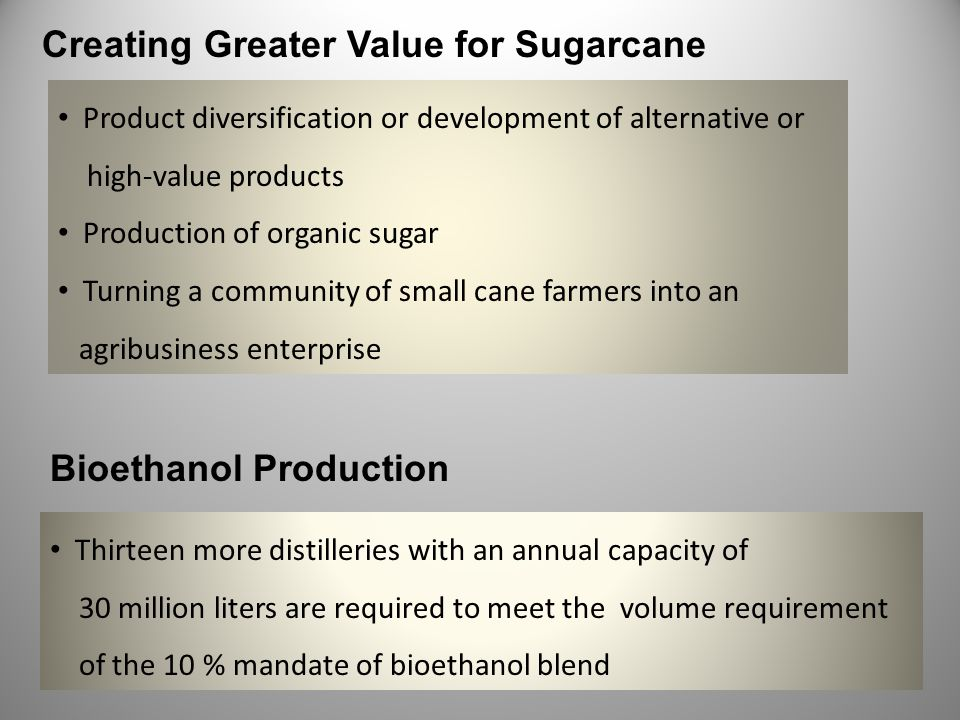 Creating Greater Value for Sugarcane