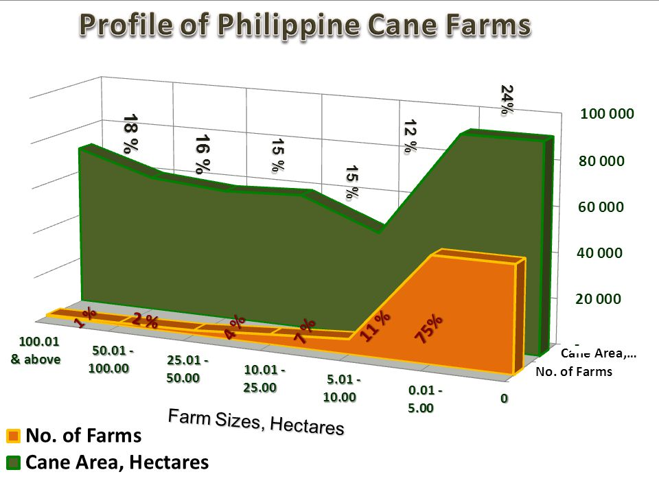 24% 18 % 12 % 16 % 15 % 15 % Farm Sizes, Hectares