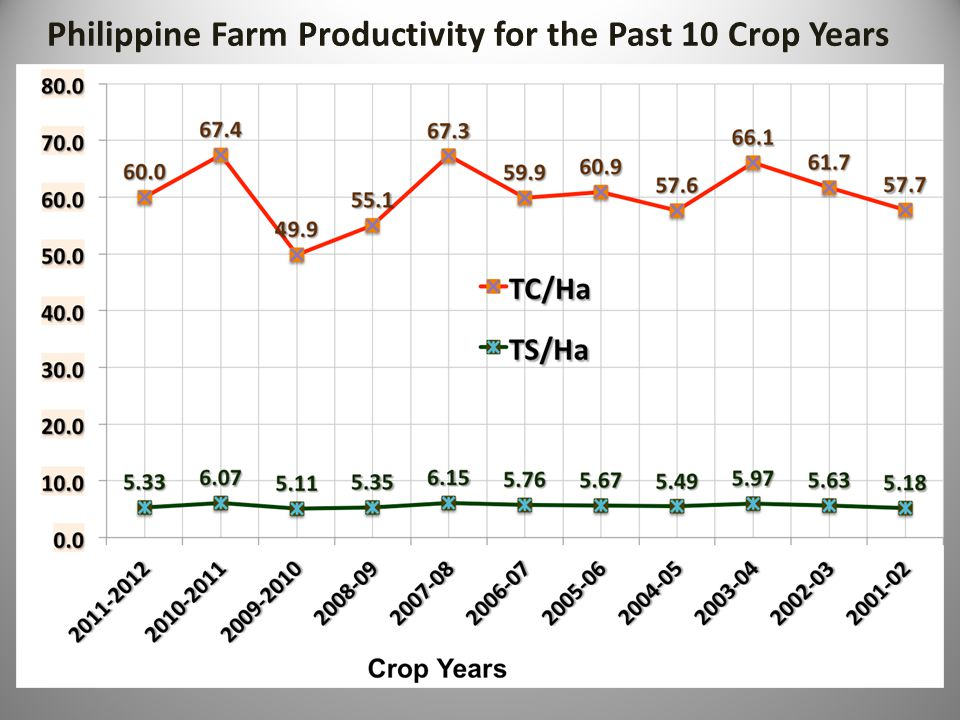 Philippine Farm Productivity for the Past 10 Crop Years