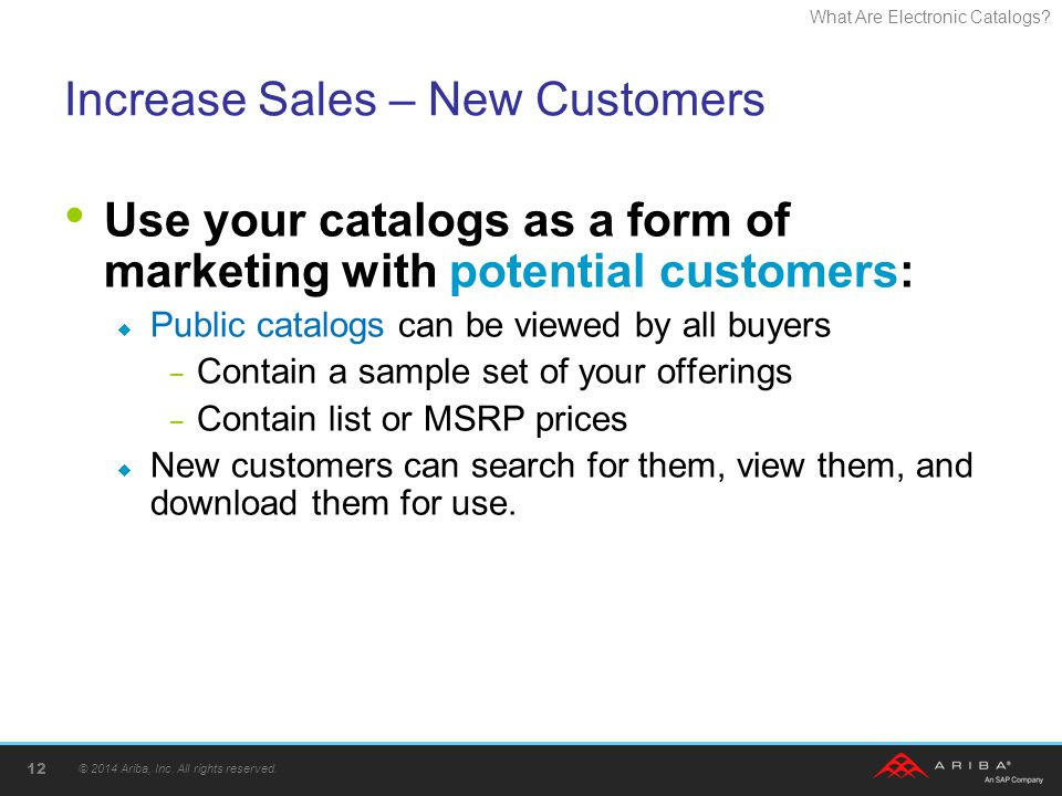 Increase Sales – New Customers