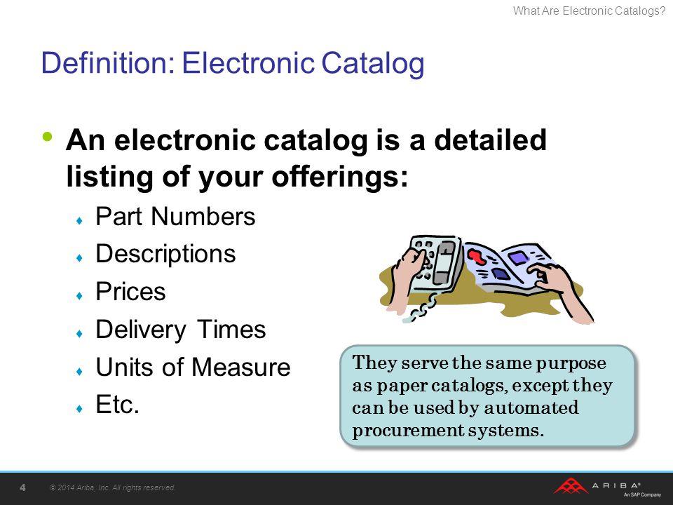 Definition: Electronic Catalog