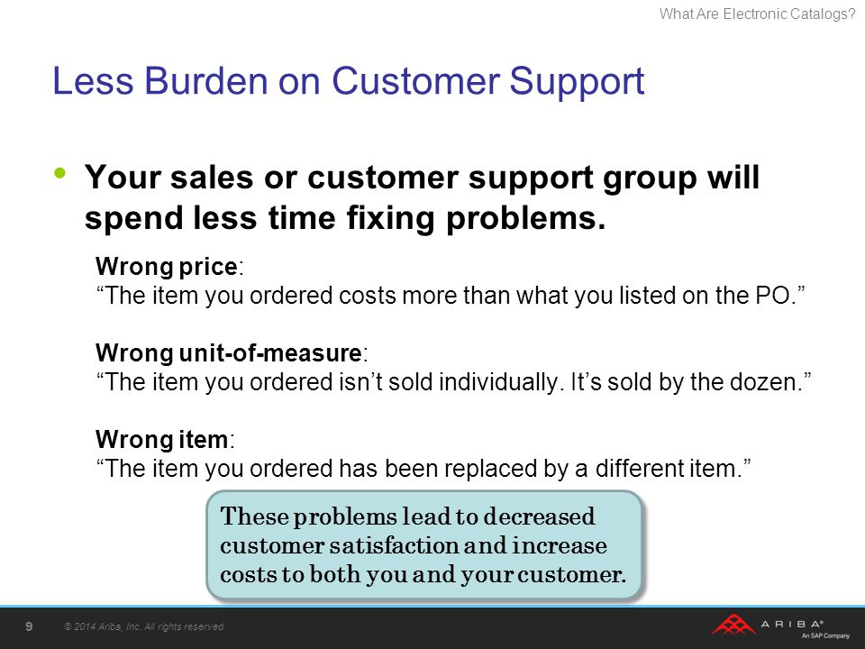 Less Burden on Customer Support