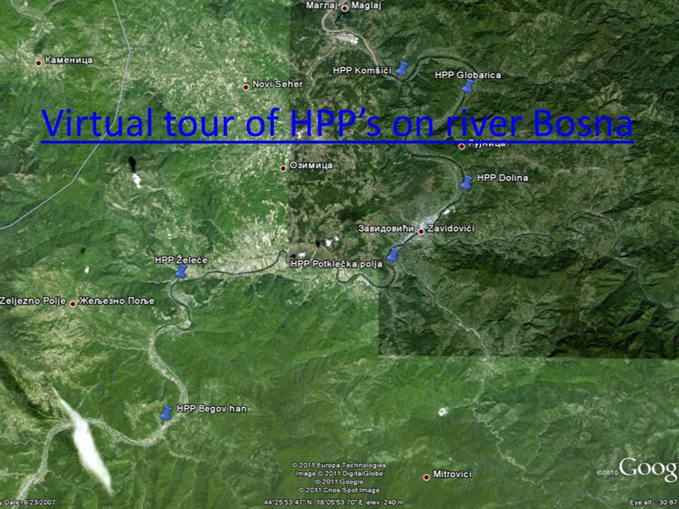Virtual tour of HPP's on river Bosna