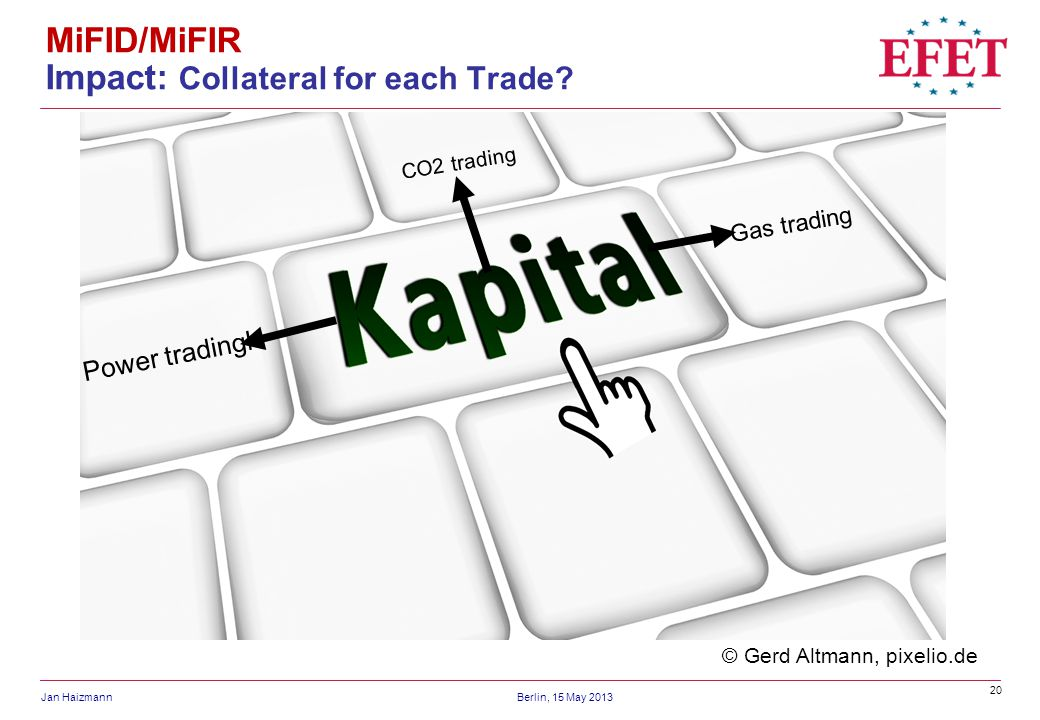 MiFID/MiFIR Impact: Collateral for each Trade