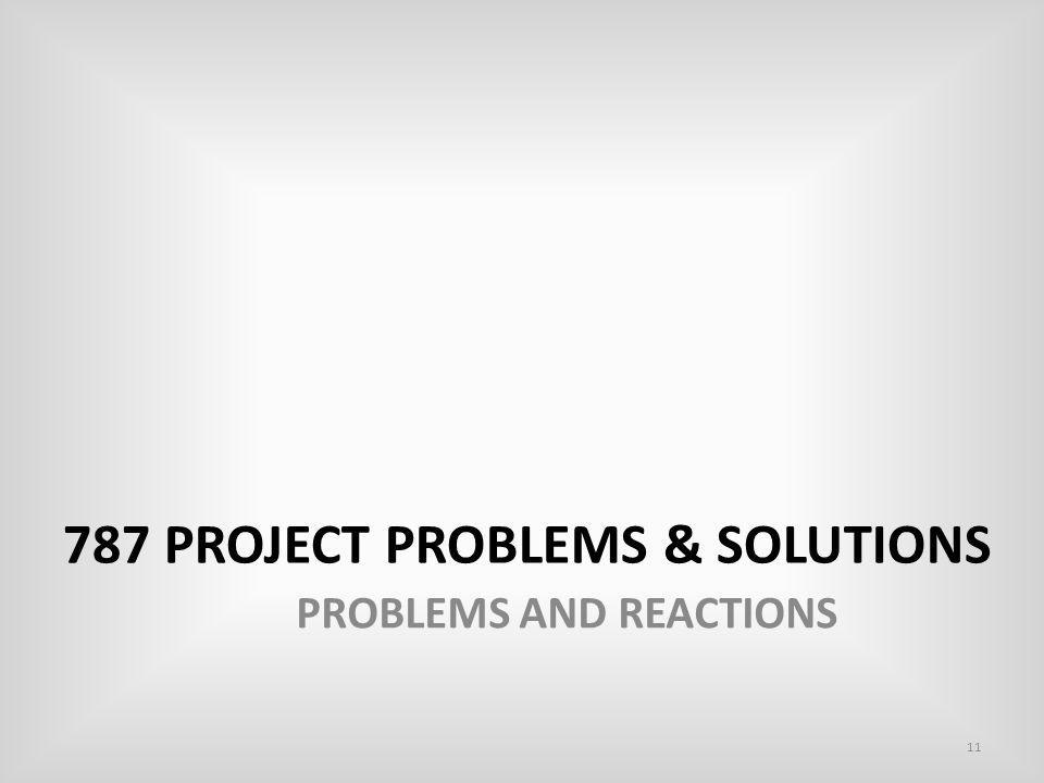 787 Project problems & solutions