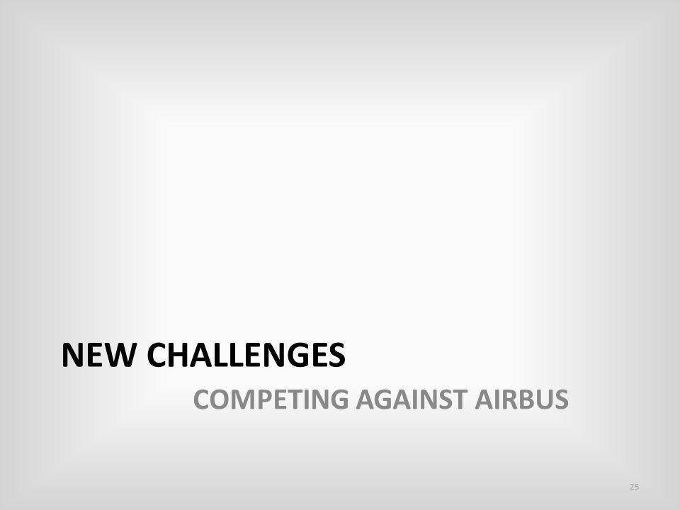 NEW CHALLENGES COMPETING AGAINST AIRBUS