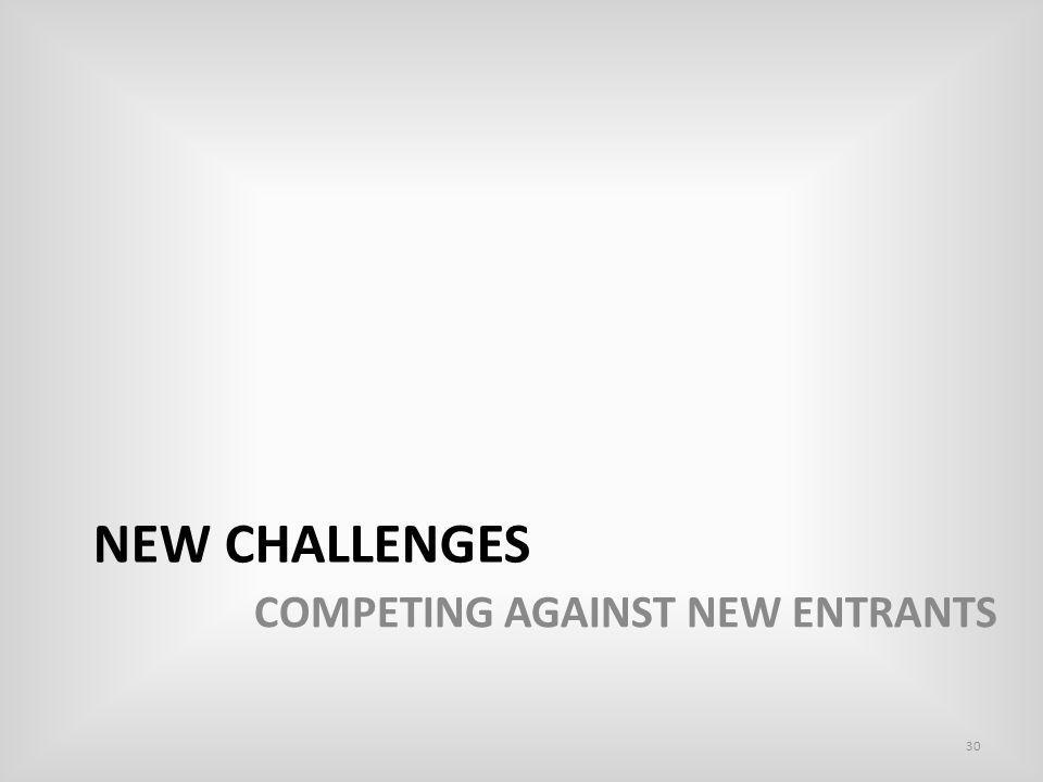 NEW CHALLENGES COMPETING AGAINST NEW ENTRANTS