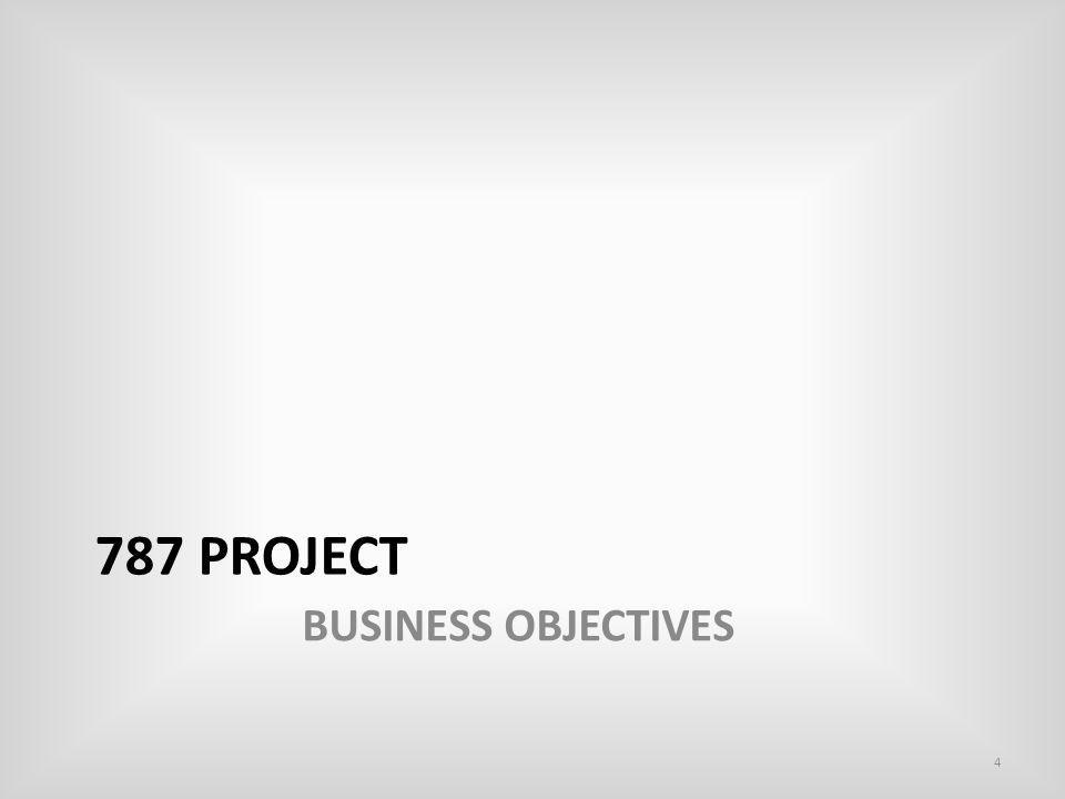 787 Project BUSINESS OBJECTIVES