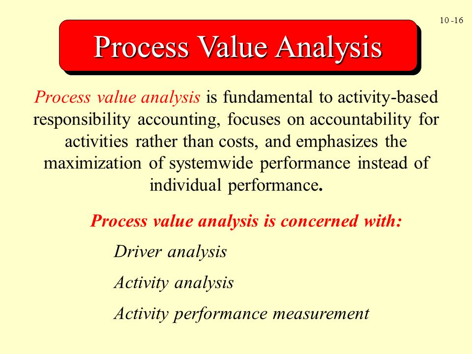 Process Value Analysis
