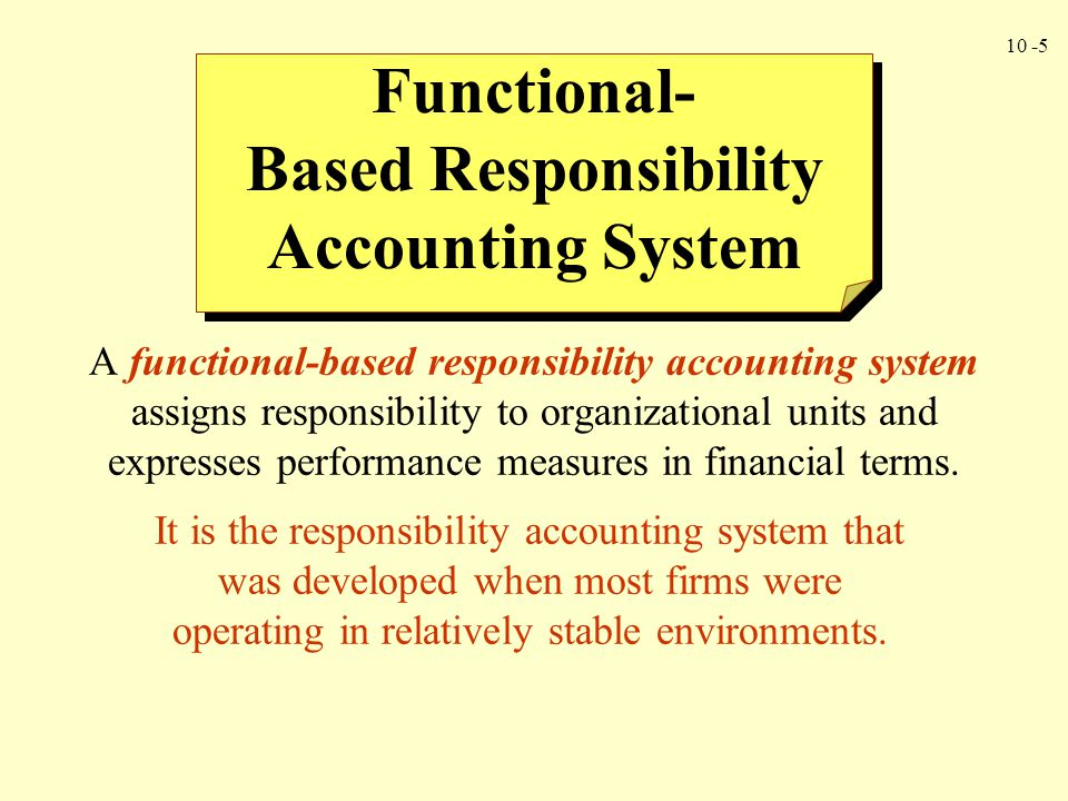 Based Responsibility Accounting System