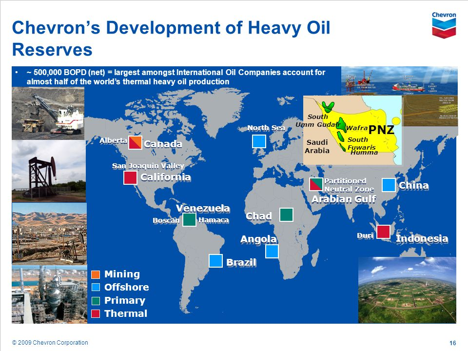 Chevron's Development of Heavy Oil Reserves