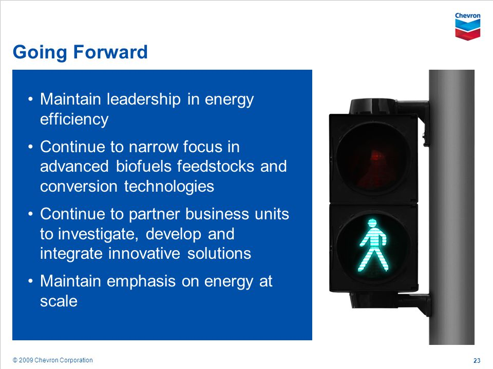 Going Forward Maintain leadership in energy efficiency