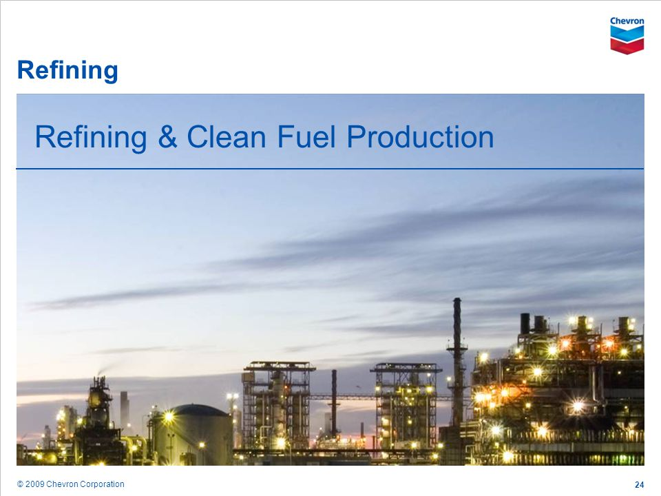 Refining & Clean Fuel Production