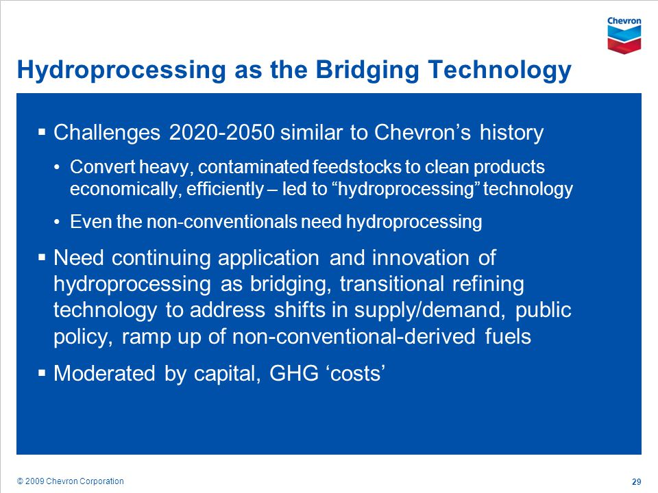 Hydroprocessing as the Bridging Technology