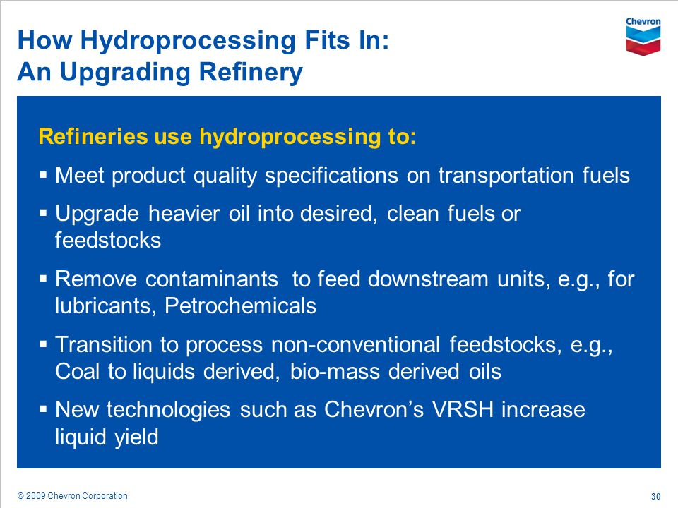 How Hydroprocessing Fits In: An Upgrading Refinery