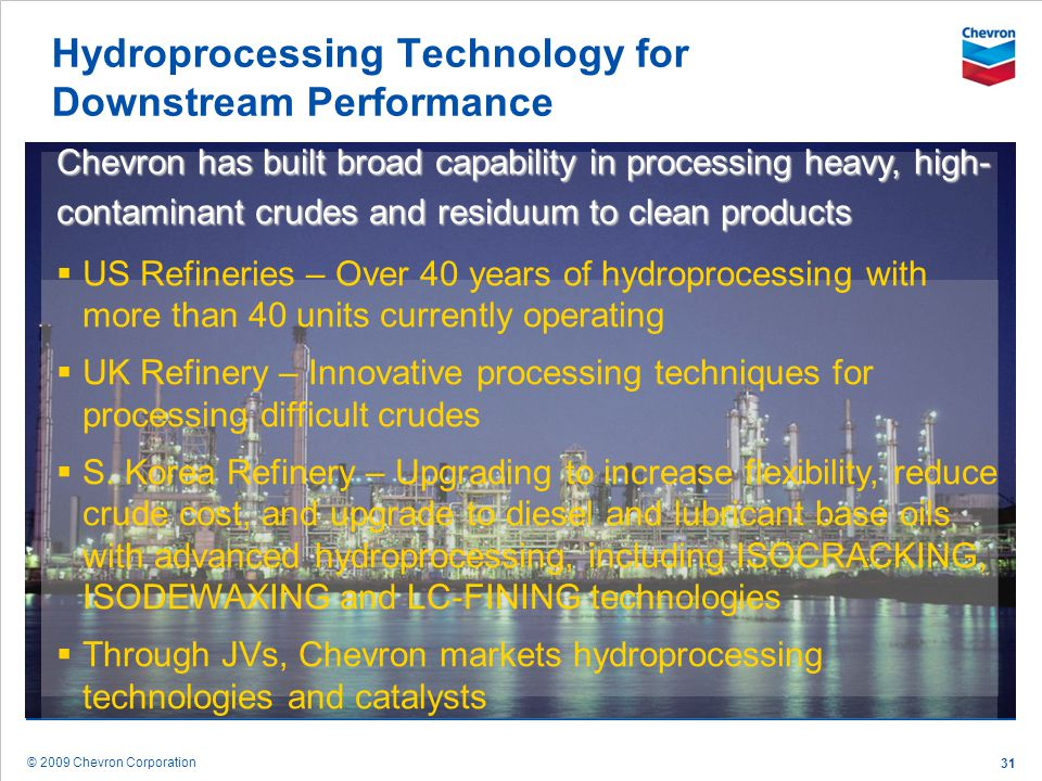 Hydroprocessing Technology for Downstream Performance