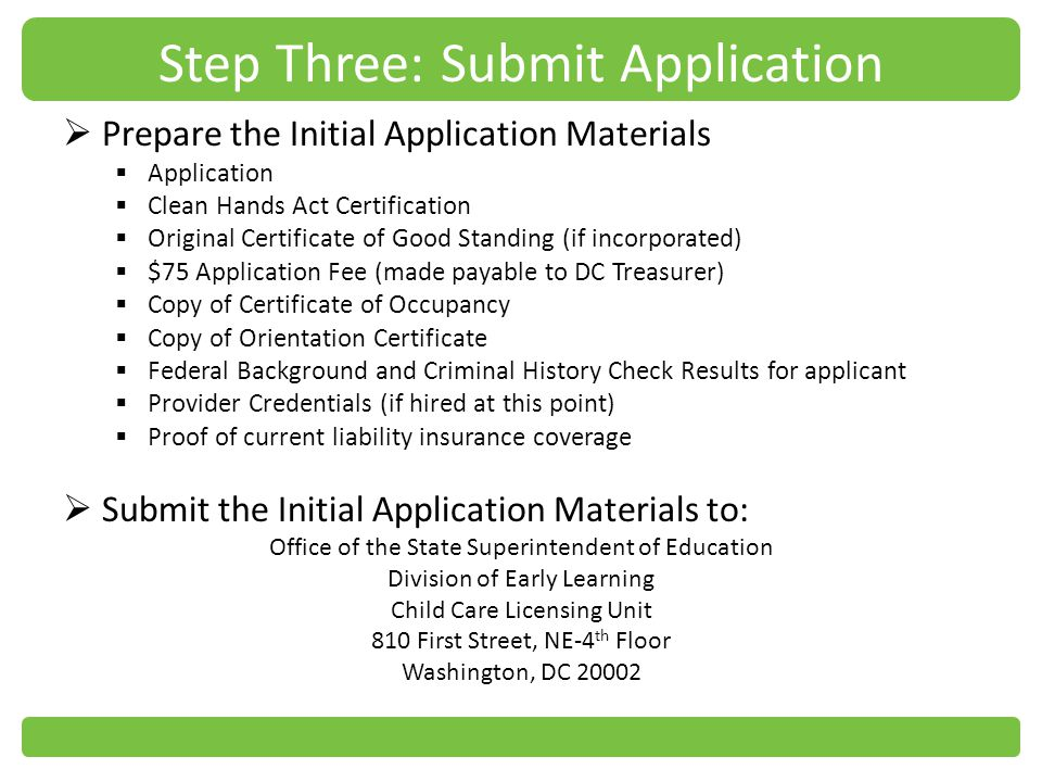 Step Three: Submit Application