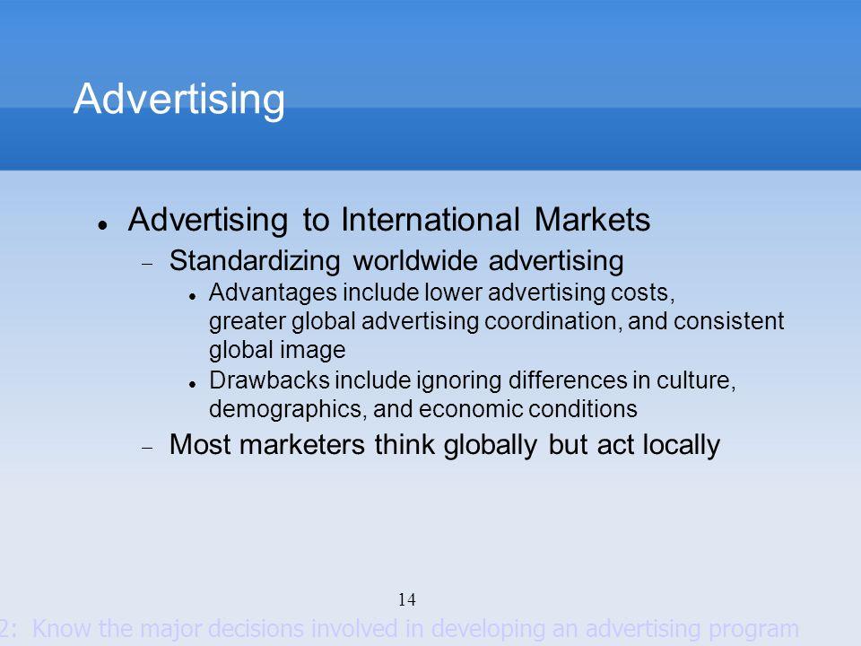 Advertising Advertising to International Markets