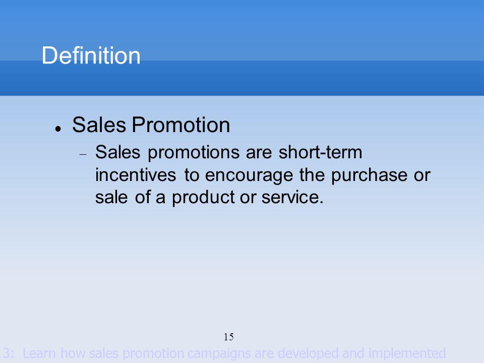 Definition Sales Promotion