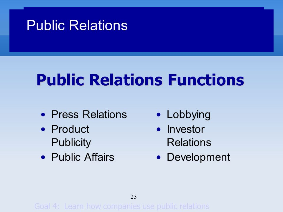 analysing the functions of public relation Featured topics include public opinion polls,  influence functions and  ie the issue of identifying a causal relation between an outcome and a set of factors.
