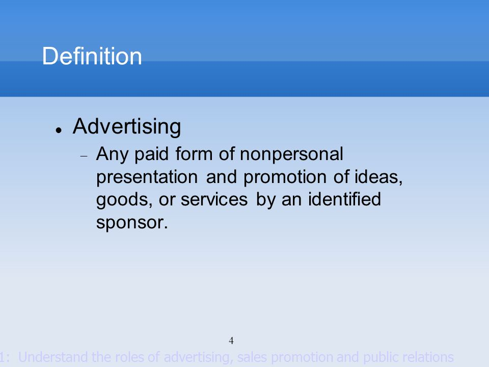 Definition Advertising