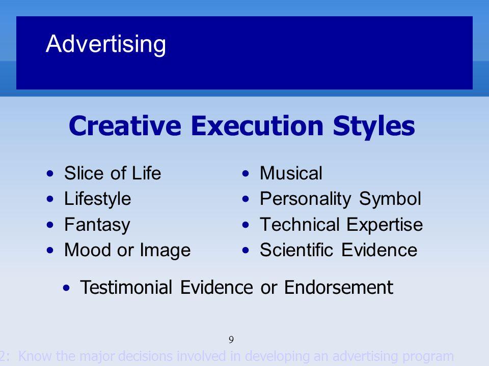Creative Execution Styles